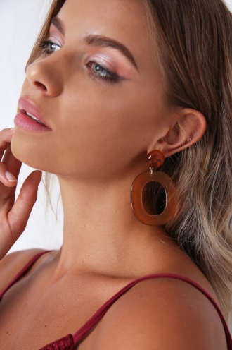 Zeppelin Earrings - Brown