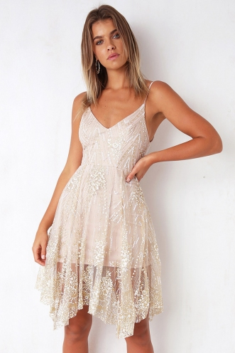 Bannock Dress - Blush Sequin
