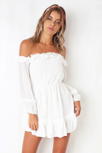 Sweet Treat Dress - White