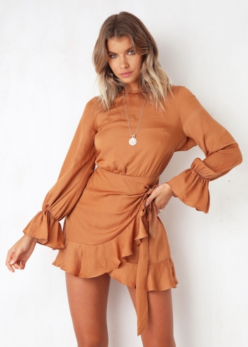 Thought About You Dress - Tan