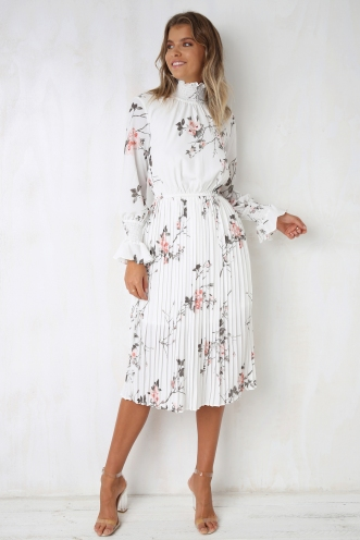 With Love Dress - White Floral