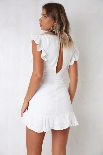 Rustic Dress - White