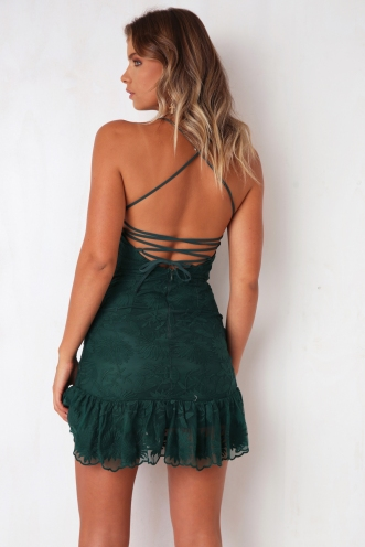 Game Changer Dress - Forest Green