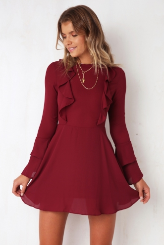 Perfect Match Dress - Wine