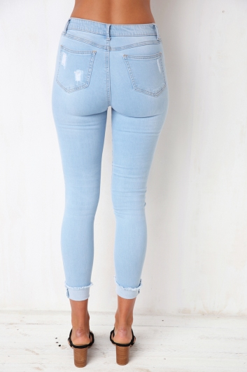 Third Time Lucky Jeans- Light Blue