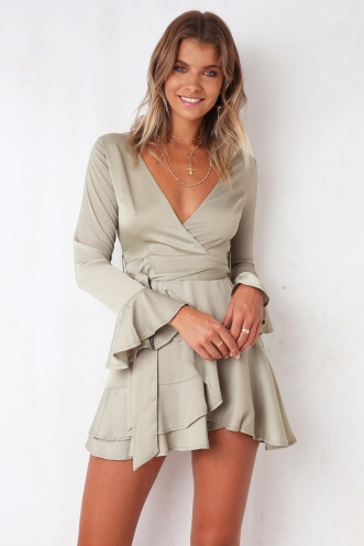 Stories Told Dress - Olive