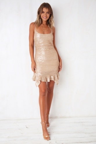 Love Sick Dress - Champagne Sequin