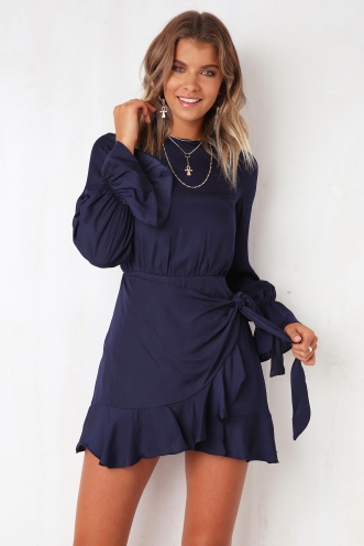 Thought About You Dress - Navy