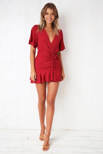 Picture Us Dress - Deep Red
