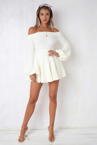 Fair Game Dress - Cream