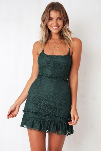 In Line With Dress - Forest Green