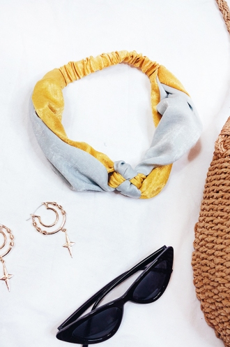 I Love Candy Headband - Teal/Mustard