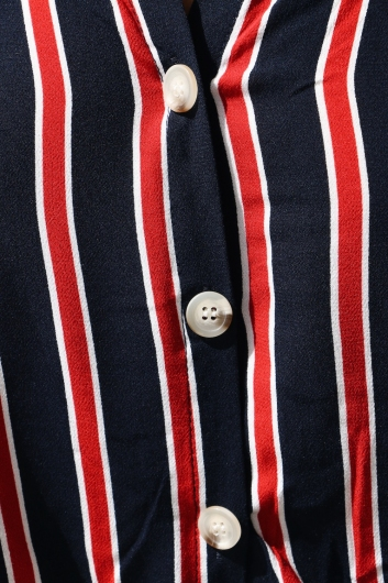 Risk Taker Shirt - Navy/Red Stripe