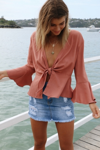 Pick Up Top - Dusty Pink