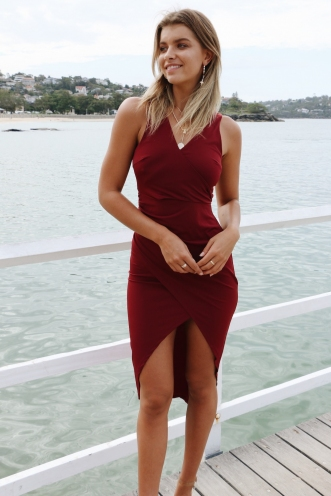 Belinda Dress - Wine