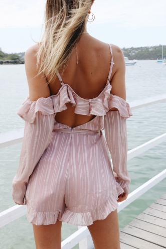 Lucky Dip Playsuit - Mauve