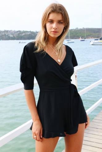 Riding Solo Playsuit - Black