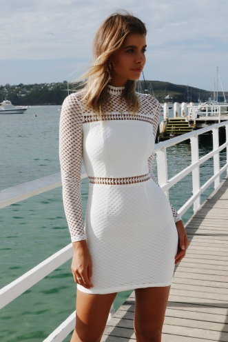 Night Timing Dress - White