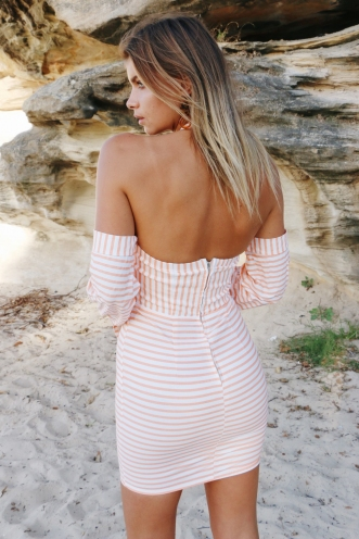 Daily Dose Dress - Orange Stripe