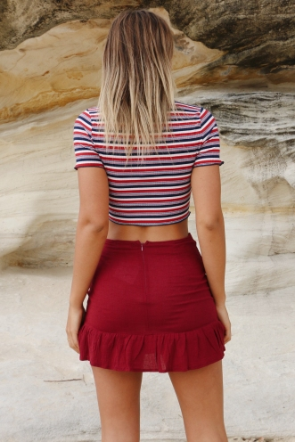 Coconut Cake Skirt - Maroon