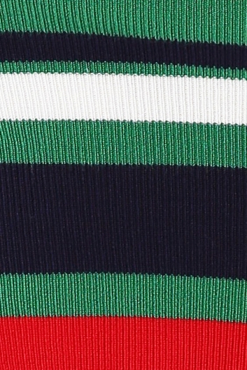 On The Down Low Top - Red/Green Stripe