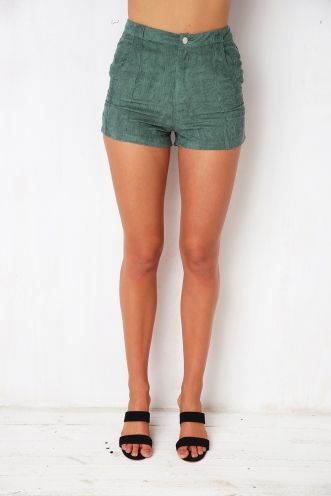 Walking On A Dream Shorts - Green Cord