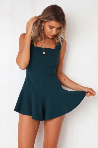 Game On Playsuit - Dark Teal