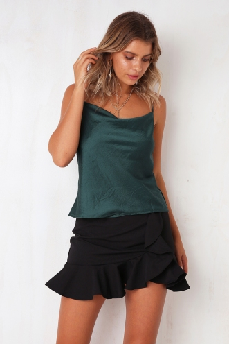 All About Me Top - Deep Green