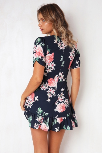 Tamieka Dress - Navy Print