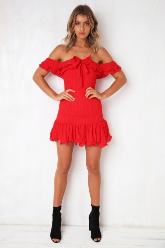 Yours Truly Dress - Red