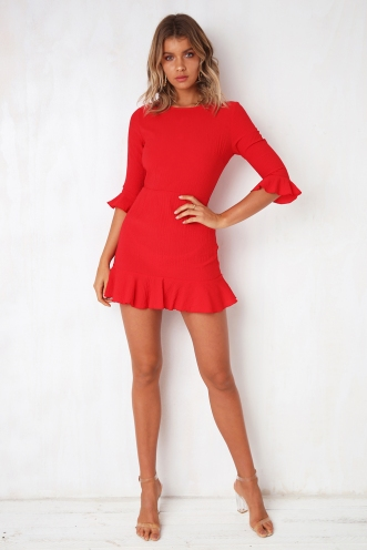 Slow Dance Dress - Red