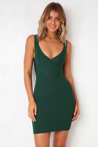 Moment In Time Dress - Green