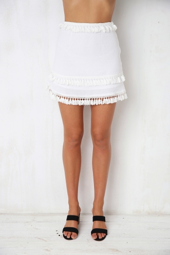 Forever Young Skirt - White