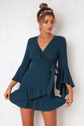 Thao Dress - Dark Teal