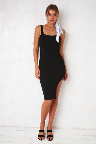 Knock On Wood Dress - Black