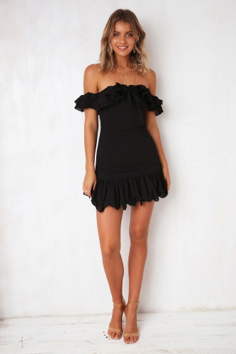 Yours Truly Dress - Black