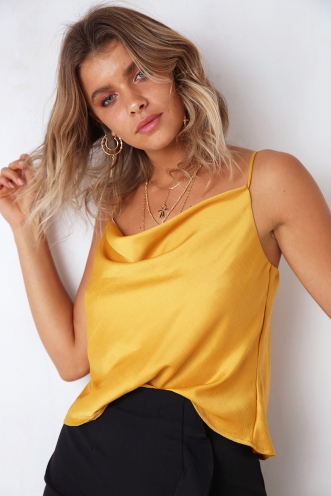 All About Me Top - Mustard