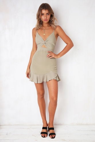 Kirsten Dress - Light Khaki
