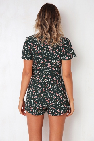 Montana Playsuit - Green Print