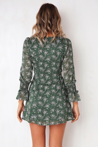 Daisy Dreaming Dress - Green Print