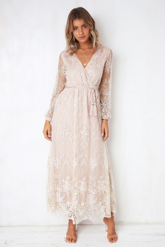 Limelight Dress - Beige/Gold