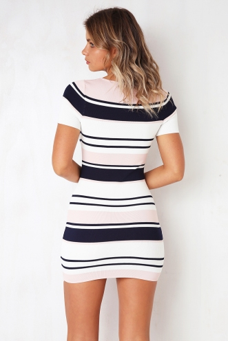 Feel The Rhythm Dress - Pink Stripe