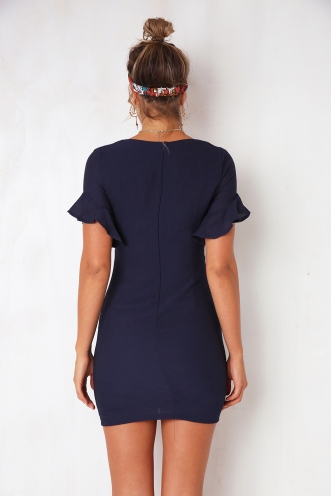 With You Dress - Navy