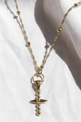 Minc Collections - Dainty Cross Necklace - Gold
