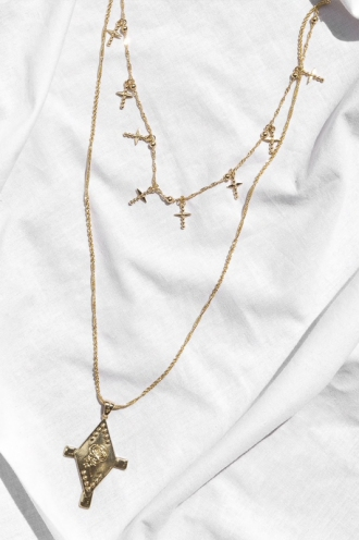 Minc Collections - Rosie Charm Necklace - Gold