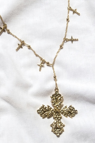 Minc Collections - Starlight Cross Necklace - Gold