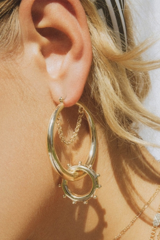 Minc Collections - Dew Drops Hoops - Gold