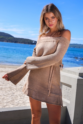 Island Dreaming Dress - Brown