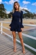 Come Around Dress - Navy