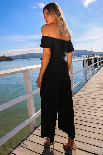 Sit Pretty Jumpsuit - Black
